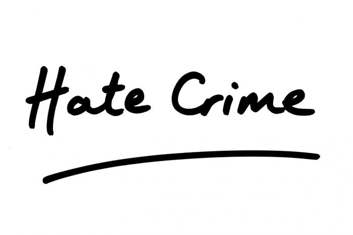 Hate Crime stock photo